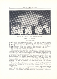 """At Home"""" from the 1934 Yearbook"""
