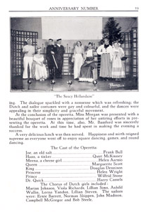 Operetta from 1934 Yearbook