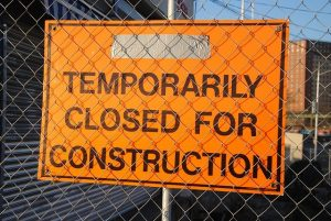 Temporarily Closed For Construction